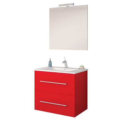 meuble a suspendre maris laque rouge 60cm 150060. Black Bedroom Furniture Sets. Home Design Ideas