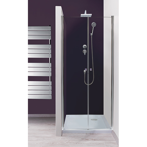 Porte saloon 90 cm verre transparent selyna 300090 for Porte douche saloon