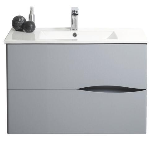 meuble a suspendre 90cm velours gris 401511109. Black Bedroom Furniture Sets. Home Design Ideas