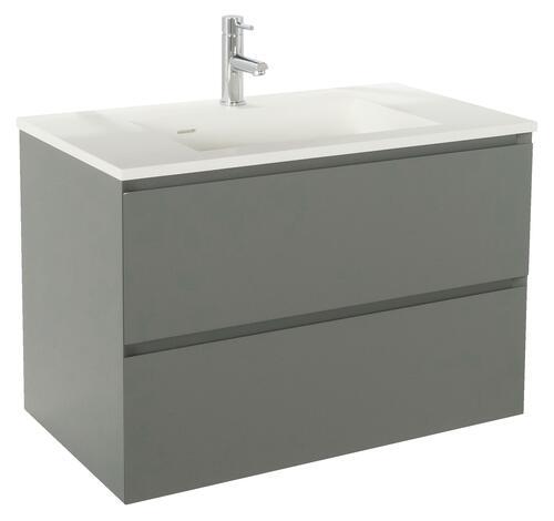 meuble a suspendre 60 cm panadura gris mat 401511144. Black Bedroom Furniture Sets. Home Design Ideas