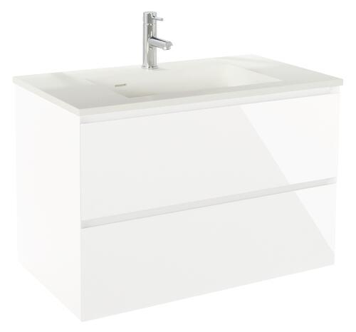 meuble a suspendre 80 cm panadura blanc brillant 401511155. Black Bedroom Furniture Sets. Home Design Ideas