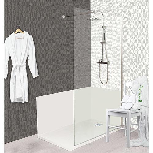 paroi de douche concept o panneau fixe 811090. Black Bedroom Furniture Sets. Home Design Ideas