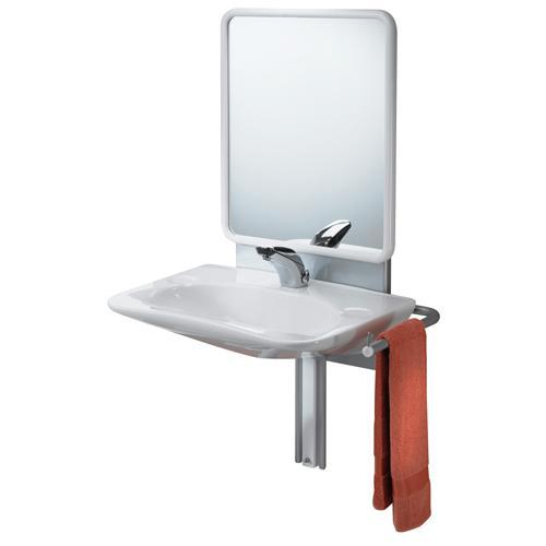 support de lavabo reglable avec miroir 5210p