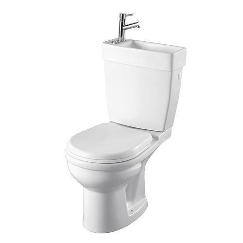 pack wc gain de place double commande avec lave mains 6239. Black Bedroom Furniture Sets. Home Design Ideas