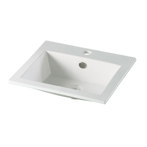 vasque a encastrer rectangulaire 49 5x43cm 7113. Black Bedroom Furniture Sets. Home Design Ideas