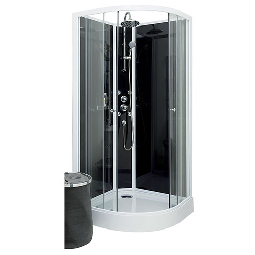 cabine de douche complete 1 4 de cercle 90 taya. Black Bedroom Furniture Sets. Home Design Ideas