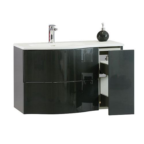 meuble a suspendre 80 cm carioca ardoise 813578. Black Bedroom Furniture Sets. Home Design Ideas