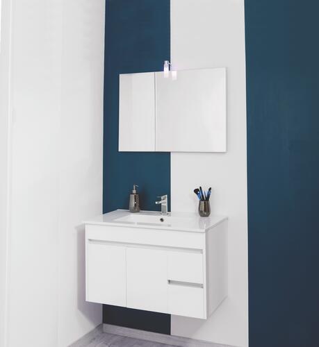 meuble de salle de bains a suspendre lumpur 80 cm 96880. Black Bedroom Furniture Sets. Home Design Ideas