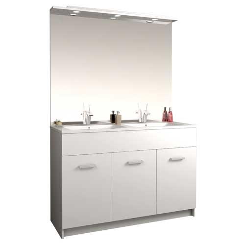 meuble salle de bains au sol tampa 2 120 cm 980120. Black Bedroom Furniture Sets. Home Design Ideas