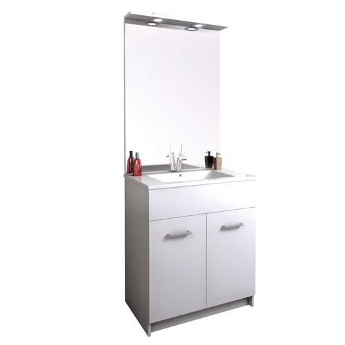 Meuble salle de bains au sol tampa 2 980700 for Meuble 2 portes salle de bain