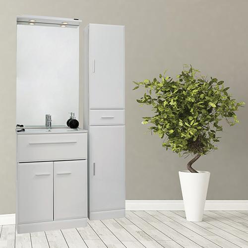 meuble de salle de bains au sol kyala 989120. Black Bedroom Furniture Sets. Home Design Ideas
