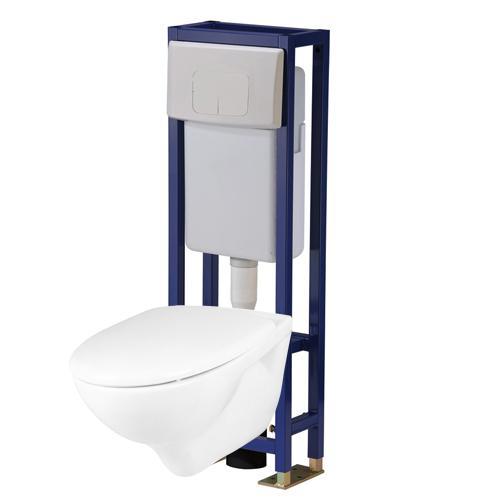 pack wc suspendu autoportant p7860 10. Black Bedroom Furniture Sets. Home Design Ideas